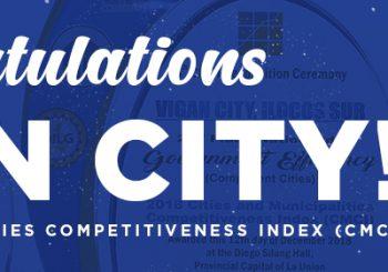 Vigan City shines at 2018 CMCI Regional Level