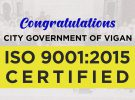 City Government of Vigan is ISO 9001: 2015 Certified