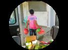 Bigueño Families Receive Free Market Packages